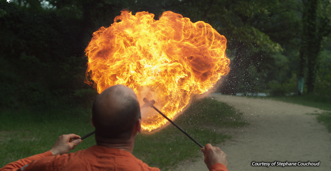 image of fire breathing